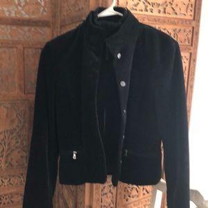 Black Elite tahari corduroy jacket. Size m